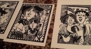 Sept. 2013 SHOW&SHARE, image of Ikie's prints