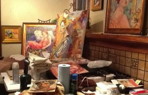 Sept. 2013 SHOW&SHARE, image of Janet's studio,
